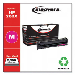 Innovera Magenta High-Yield Toner Cartridge, Replacement for HP 202X (CF503X), 2,500
