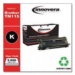 Innovera TN115BK High-Yield Black Toner Cartridge