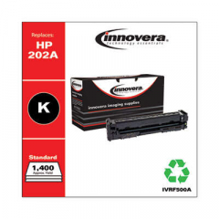 Innovera Black Toner Cartridge, Replacement for HP 202A (CF500A), 1,400 Page-Yield