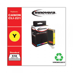 Innovera Yellow Ink, Replacement For Canon CLI-221Y (2949B001), 510 Page Yield (CNCLI