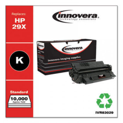 Innovera Black High-Yield Toner Cartridge, Replacement for HP 29X (C4129X), 10,000 Pa