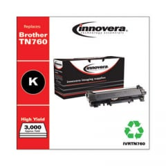 Innovera Black High-Yield Toner Cartridge, Replacement for Brother TN760, 3,000 Page-