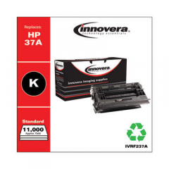 Innovera Black Toner Cartridge, Replacement for HP 37A (CF237A), 11,000 Page-Yield