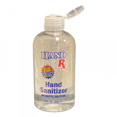 Hand Rx Sanitizer, 8 Oz Bottle, Unscented, 12/carton (BCLRXSANI8OZ)
