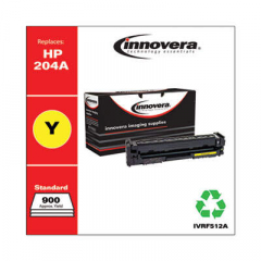Innovera Yellow Toner Cartridge, Replacement for HP 204A (CF512A), 900 Page-Yield