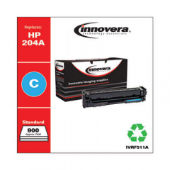 Innovera Cyan Toner Cartridge, Replacement for HP 204A (CF511A), 900 Page-Yield