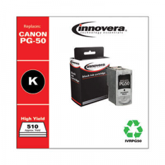 Innovera Black High-Yield Ink, Replacement For Canon PG-50 (0616B002), 510 Page Yield