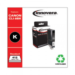 Innovera Black Ink, Replacement For Canon CLI8BK (0620B002), 412 Page Yield (PCLI8BK)