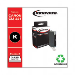 Innovera Black Ink, Replacement For Canon CLI-221BK (2946B001), 3425 Page Yield (CNCL