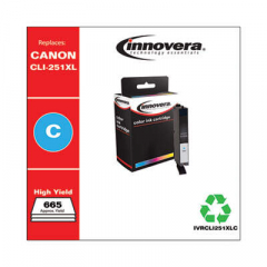 Innovera CLI-251XL (6449B001) High-Yield Cyan Ink Cartridge