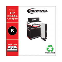 Innovera Photo Black High-Yield Ink, Replacement For HP 564XL (CB322WN), 290 Page Yie