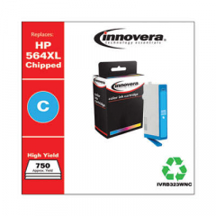 Innovera Cyan High-Yield Ink, Replacement For HP 564XL (CB323WN), 750 Page Yield (B32