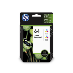 HP 64 Tri-Color (6ZA55AN) 2-Pack Ink Cartridges