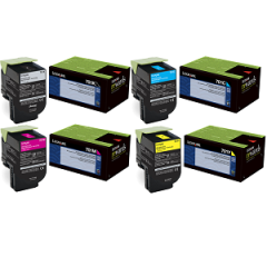 Lexmark 701 Toner Cartridge Set