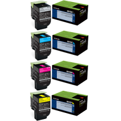 Lexmark 801X Toner Cartridge Set