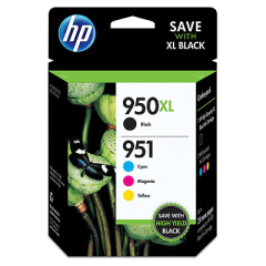 HP 950XL High Yield Black/951 Cyan/Magenta/Yellow Ink Cartridges