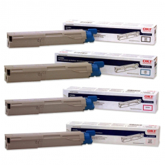 Okidata C3400 Toner Cartridge Set