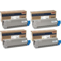 Okidata C612 Toner Cartridge Set