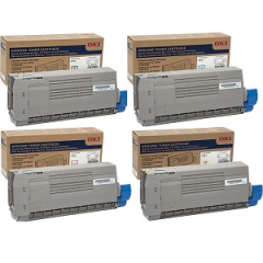 Okidata C712 Toner Cartridge Set