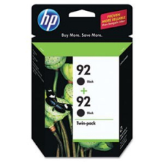 HP C9512FN Black Ink Cartridge Twin Pack