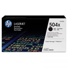 HP CE250XD Black Toner Cartridge Dual Pack