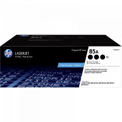 HP 85A Black Toner Cartridge Tri-Pack (CE285AT1)
