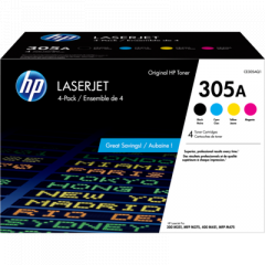 HP 305A Black/Cyan/Magenta/Yellow Toner Cartridge (CE305AQ1)