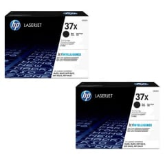 HP 37X High Yield Black Toner Cartridge 2-pack