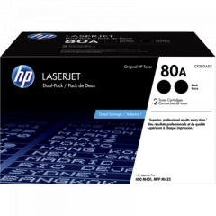 HP 80A Black Dual Toner Cartridge (CF280AD1)