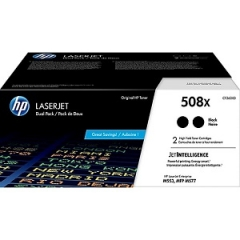 HP 508X CF360XD High Yield Black Toner Cartridge 2-pack