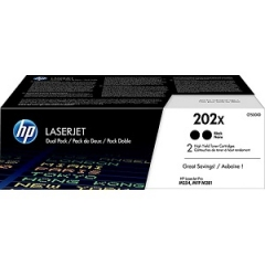 HP 202X CF500XD High Yield Black Toner Cartridge 2-pack
