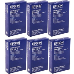 Epson ERC-38 Black Ribbon Cartridge 6-Pack