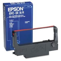 Epson ERC-38 Black Red Ribbon Cartridge