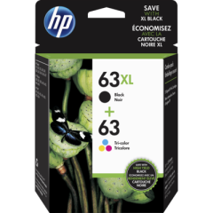 HP 63XL High Yield Black 63 Tri-color Ink Cartridges