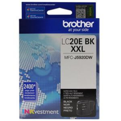 Brother LC20EBK Black Ink Cartridge