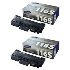 Samsung MLT-D116SD Black Toner Cartridge Dual Pack