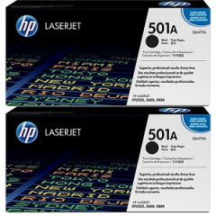HP Q6470AD Black Toner Cartridge Dual Pack