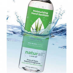 Naturall 16 oz Moisturizing Hand Sanitizer with Aloe 70% Ethyl Alcohol with Sports Top (S450216P24)