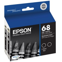Epson T068120-D2 Black Ink Cartridge Dual Pack