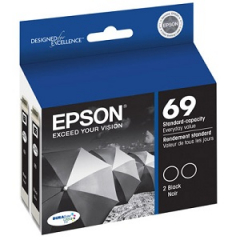 Epson T069120-D2 Black Ink Cartridge Dual Pack