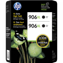 HP 906XL High Yield Black Ink Cartridges