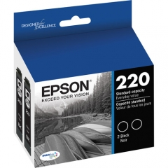Epson T220120-D2 Black Ink Cartridge Dual Pack