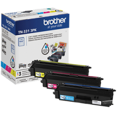Brother TN3313PK Cyan, Magenta, Yellow Toner Cartridge Multi-Pack