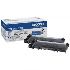 Brother TN6602PK Black Toner Cartridge Twin Pack