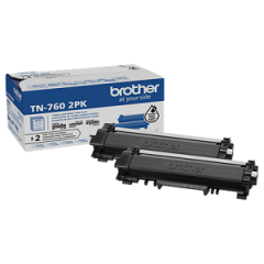 Brother TN7602PK Black Toner Cartridge Twin Pack