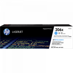 HP 206X High Yield Cyan Toner Cartridge W2111X