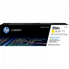 HP 206X High Yield Yellow Toner Cartridge W2112X