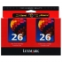 Lexmark 10N0139 Color Ink Cartridge Twin Pack