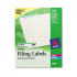 Avery 5866 Permanent File Folder Labels
