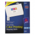 Avery 8254 Vibrant Color Printing Mailing Labels